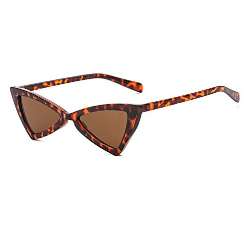 Triangle Hinge Eye Mujeres Cat Retro Marrón Inlefen Leopardo Metal Moda Sunglasses Eyewear q8xTXfZE
