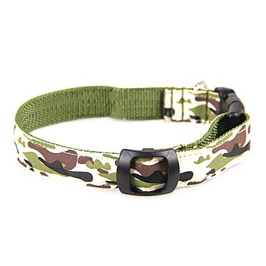 Feng Nylon Camouflage Pattern LED Collar for Pet Dog (Assorted Size,Random Color)