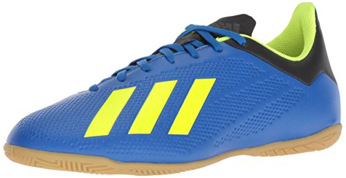 Adidas Indoor Soccer Cleats - adidas Men's X Tango 18.4 Indoor Soccer Shoe, Football Blue/Solar Yellow/Black, 6.5 M US