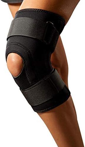 Kniebandage LOREY-KN10029 aus 4mm dickem Neopren mit beidseitigem Nylonbesatz