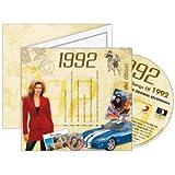 Birthday Gift Idea - 1992 Chart Hits CD and 1992 Birthday Card