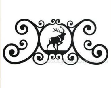 24 Inch Elk Over Door Plaque by Village Wrought Iron