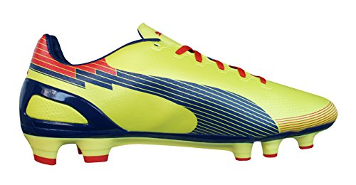 Puma evoSPEED 3 Graphic FG Hombre Botas de fútbol - Negro Rojo Yellow