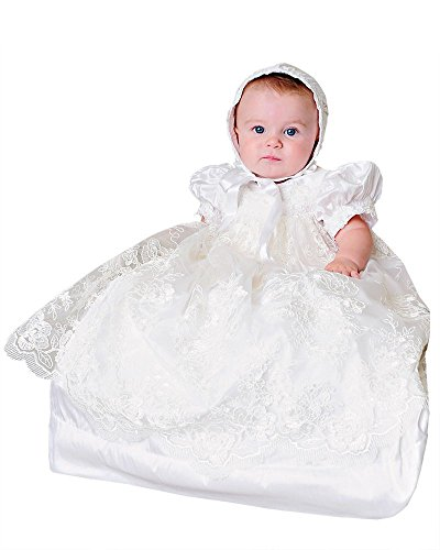 Chloe Christening or Baptism Gown for Girls, Made in ()