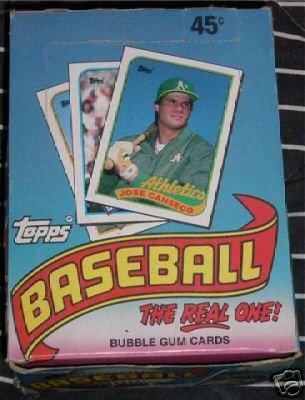 1989 Topps Baseball Card Unopened Hobby Box (Johnson, Smo...