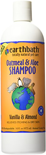 Earthbath Oatmeal & Aloe Shampoo, Vanilla & Almond, 16 Ounce (Best Care Veterinarians Cat)
