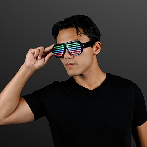 Rechargeable LED Rave Glasses with Sound Reactive Lights -
