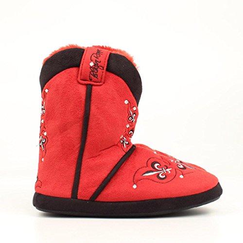 amp; M Women's Crystals M 10 Western Slipper Bootie 9 amp;F Fleur Red Cowboy LG Women's aWTn6qIn