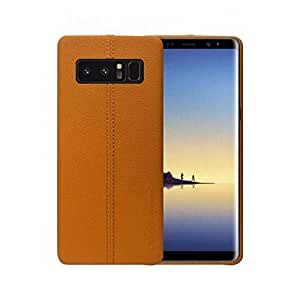 USAMS Joe Series Leather Case Cover For Samsung Galaxy Note 8 - Brown
