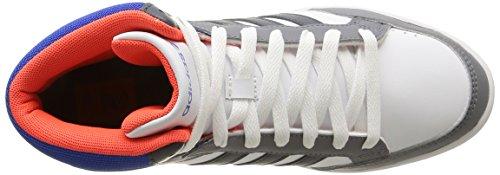 adidas NEO Hoops Team Mid - Zapatillas altas infantil Gris (bold onix/blue/running white)