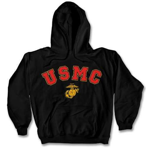 USMC Marine Corps Vintage Hoodie Sweatshirt 2XL Black for sale  Delivered anywhere in USA