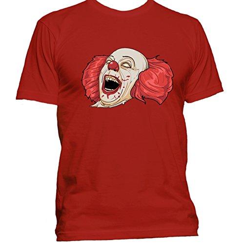Evil Clown Halloween T Shirt Medium Red
