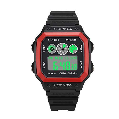 Yezijin Luxury Men Analog Digital Military Army Sport LED Waterproof Wrist Watch for Father Men Student Youth Teens Boyfriend Lover's Birthday