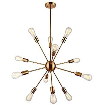 pendant lighting fixture. sputnik chandelier housen solutions 12 lights pendant lighting brushed brass modern fixture