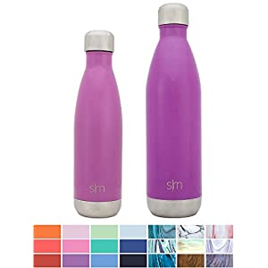 Simple Modern Stainless Steel Vacuum Insulated Double-Walled Wave Bottle, 25oz - Lavender Purple