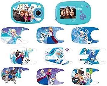 Lexibook Dj070fz Disney Frozen Die Eiskönigin Elsa Digitalkamera 5mp Lcd Bildschirm 10 Aufkleber Batteriebetrieben Blau Violett Spielzeug