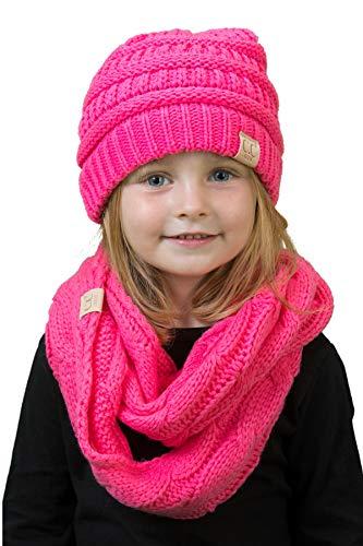 k1 scarf pom beanie