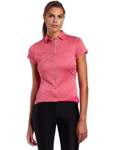Pearl iZUMi Women's Divide Polo,Pink Punch,Small