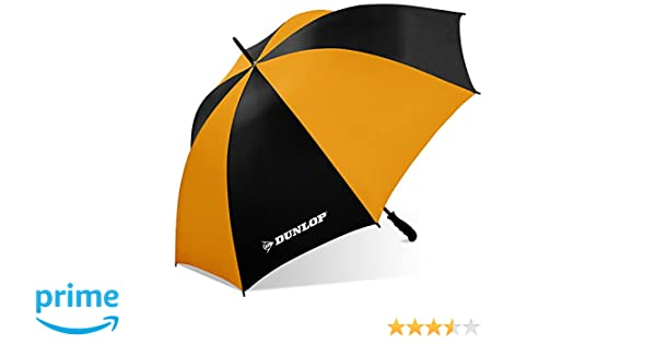 b5c1c7dcdc0f Dunlop Jumbo Golf Umbrella-Ms-56dl Blkor, Black/Orange