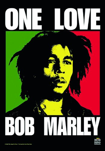 LPGI Bob Marley One Love Fabric Poster, 30 by 40-Inch Bob Marley Poster Flag