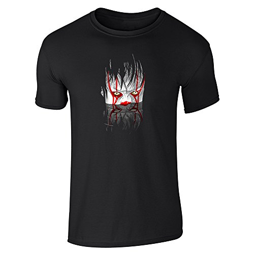 Pop Threads You'll Float Too Horror Clown Halloween Scary Black S Short Sleeve T-Shirt -