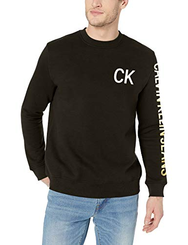 Calvin Klein Men's Monogram Logo Crew Neck Sweatshirt
