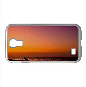 Fisherman Silhouette Watercolor style Cover Samsung Galaxy S4 I9500 Case (Beach Watercolor style Cover Samsung Galaxy S4 I9500 Case)