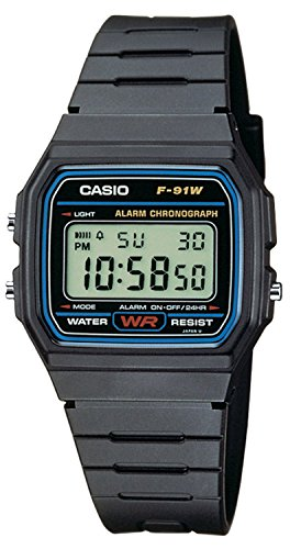 Casio casual black digital F91W 1