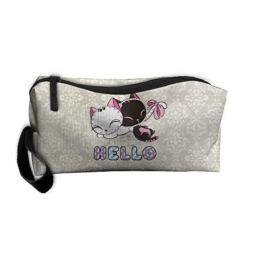 FOOOKL Cat Portable Travel Home Lingerie Bra Cosmetic Make-up Storage Bag Handbag
