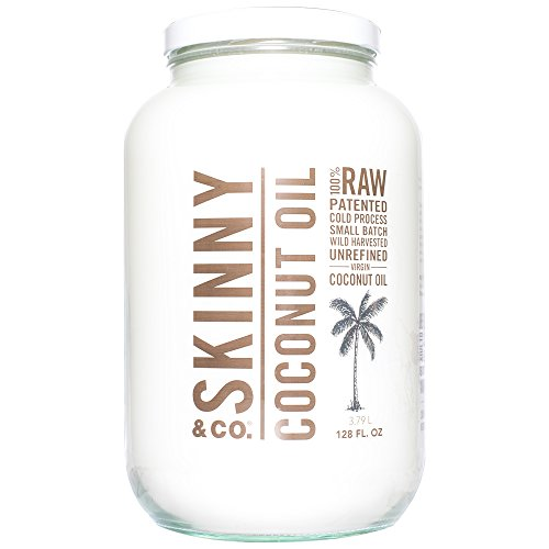 Skinny & Co. 100% Raw Virgin Skinny Coconut Oil for Skin and Hair (128 ounce/1 Gallon) by Skinny & Co.
