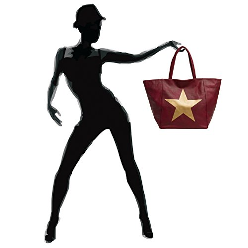 femme à TS1017 étoile main Sac Rouge avec métallisée XL CASPAR pour grande vqBOEdq