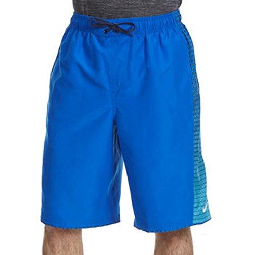 Nike Mens Continuum Splice Volley 11 Inch Swim Trunks M Blue Aqua