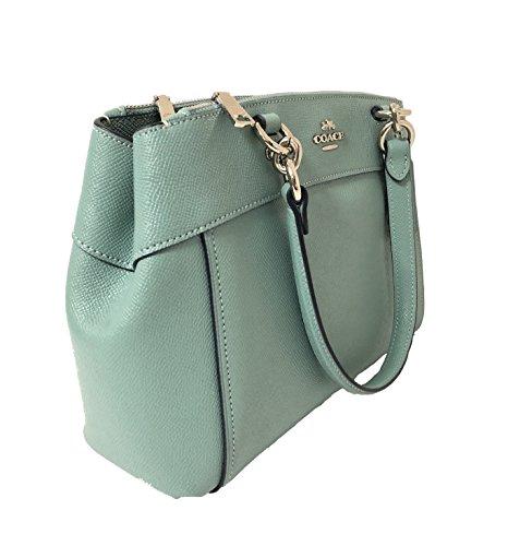 Sv Aquamarine Crossbody Signature Mini Handbag Brooke Detachable Leather Coach Womens Crossgrain Strap Carryall 7axPBqnz