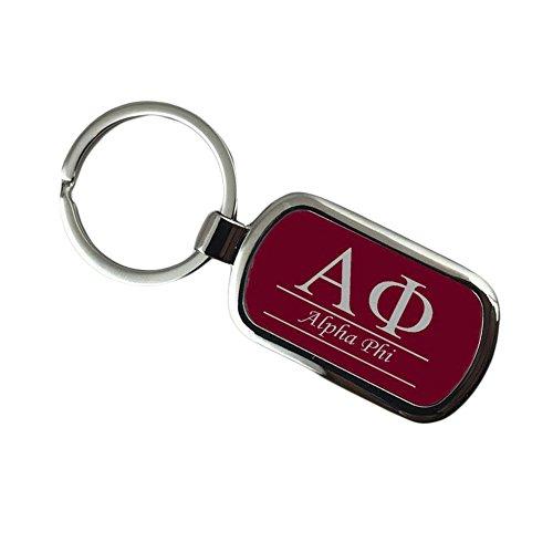 Phi Key Ring (Alpha Phi Chrome Custom Keychain)