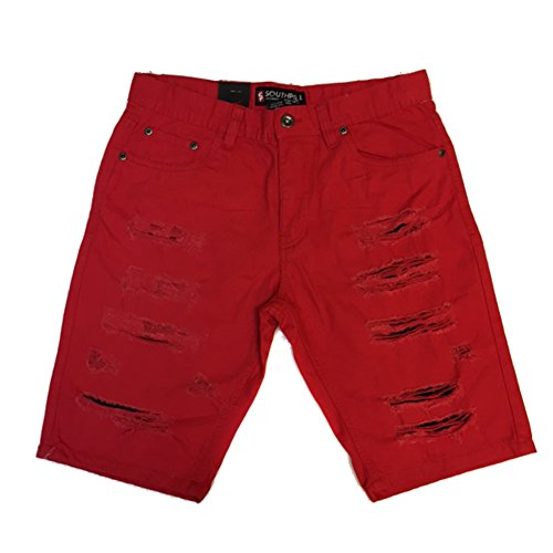 Southpole Short Twill Ripped Repaired