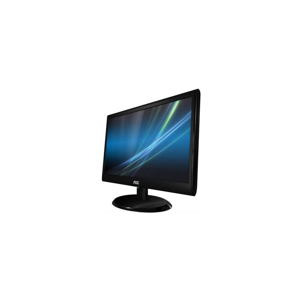AOC e950sw 19 LED LCD Monitor 169 5ms 1366x768 250 Nit 20000001 VGA Piano Black