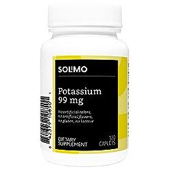 Amazon Brand - Solimo Potassium 99 mg, 1...
