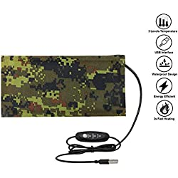 Reptile Tank Heating Pad - USB Reptile Under Tank Heat Mat Waterproof Terrarium Heater Reptile Heated Pad for Lizard, Gecko, Bearded Dragon, Chameleon, Corn Snake, Spider, Hermit Crab