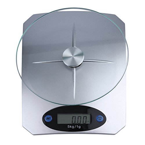 Kitchen Scale, Justdolife Diet Scale Digital Glass Top Food Scale Cooking Scale for Kitchen by Justdolife