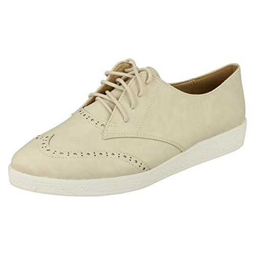 Spot On ,  Damen Brogues Beige
