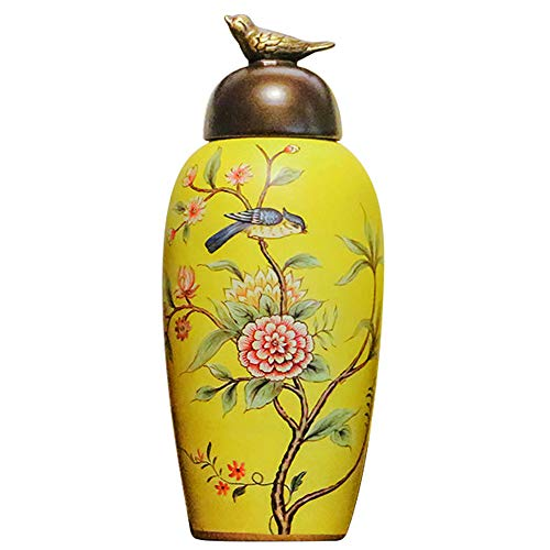 - QINYA,Cremation Urn for Ashes-Funeral Urn for Human Ashes,Affordable Funeral Urn Adult Urn for Ashes Handcrafted Urn,Long-Term Storage (Large, Yellow)
