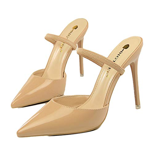 Drew Toby Women Pumps Fashion Simple Patent Leather Shallow Mouth Pointed-Toe Slippers