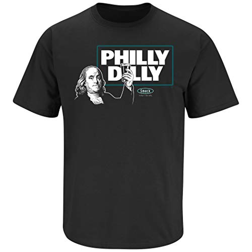 - Philadelphia Football Fans. Philly Dilly T-Shirt (Sm-5X) (Black Short Sleeve, Large)