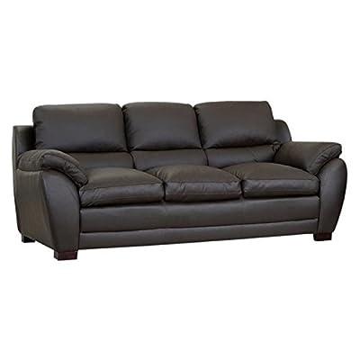 Bowery Hill Leather Sofa in Espresso