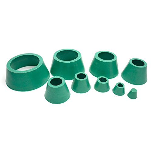 Soccerene Filter Adapter Cones Set, Buchner Funnel Flask Adapter Set, Tapered Collar Green, Good Elasticity Smooth Surface Hardwearing, Pack of (Buchner Filter Funnel)