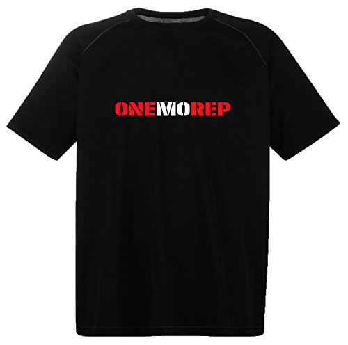 Men's Quality Performance 'ONEMOREP' T-Shirt.