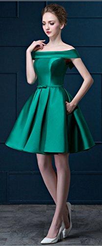 Eyekepper Vestido de Noche de Baile de Bola Corto de Fuera de hombro Para Dama de Honor Verde