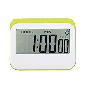 NewVan Tech Multifunction Digital Timer Magnetic Digital 24 Hours Kitchen Timer with 3 mode - Clock,Countup,Countdown for Cooking,Study,Games (Green) by NewVan Tech