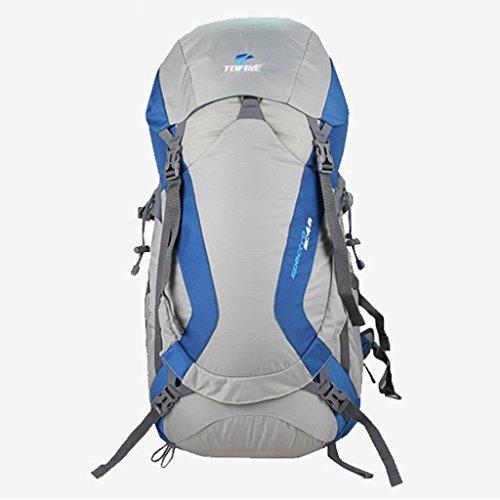 Tamaño de escalada al aire libre que va de excursión mochila hombres y mujeres bolsa de a bordo viajan mar azul