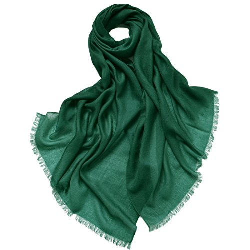 ZORJAR Women's fashion 100% Cashmere Ultra Thin Super Soft Warm Long Large Scarf Scarves Shawl Wrap 27